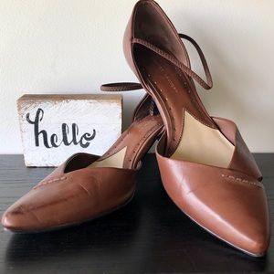 Chinese Laundry sz. 9 chocolate brown leather heel